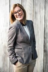 Woman wearing a suit