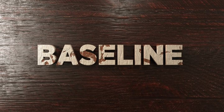 Baseline - grungy wooden headline on Maple  - 3D rendered royalty free stock image. This image can be used for an online website banner ad or a print postcard.