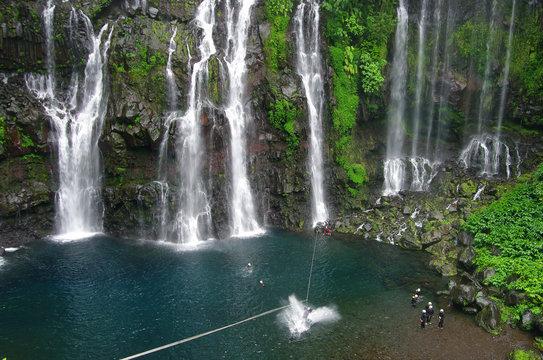 La Réunion - Tyrolienne à la cascade de Grand Galet