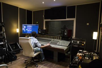 Musical recording in a recording studio
