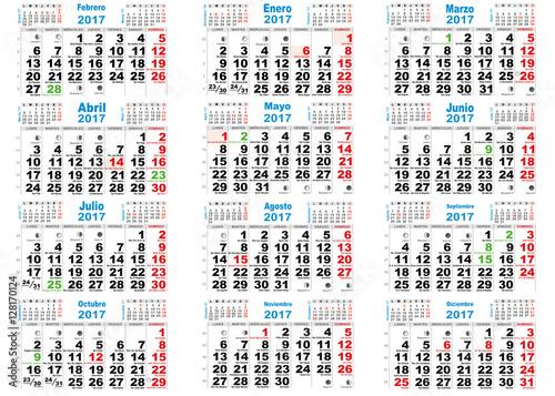 Calendario 2017 santoral espa a im genes de archivo y for Calendario lunar de hoy