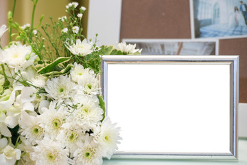 Blank vintage photo frame.