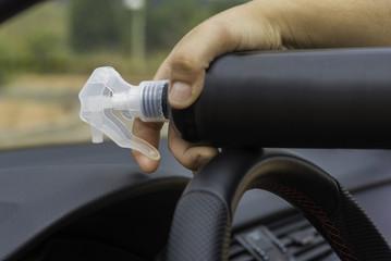 Spray clean dashboard.