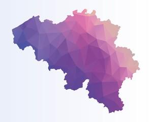 Polygonal map of Belgium