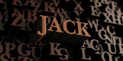 Jack - Wooden 3D rendered letters/message.  Can be used for an online banner ad or a print postcard.