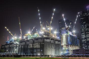 Skyscraper under construction in Singapore