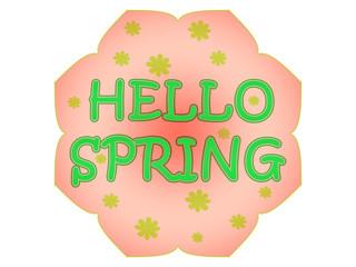 Hello spring label