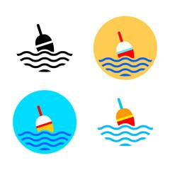 Fishing float icons