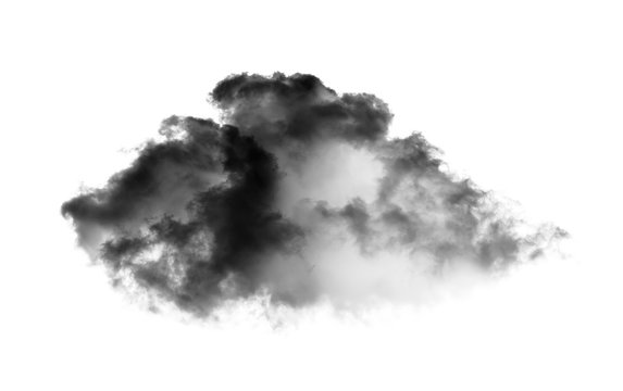 black cloud on white background