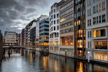 Einzelhandel am Bleichenfleet in Hamburg