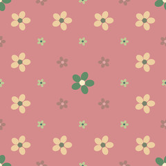 Flower seamless pattern background.