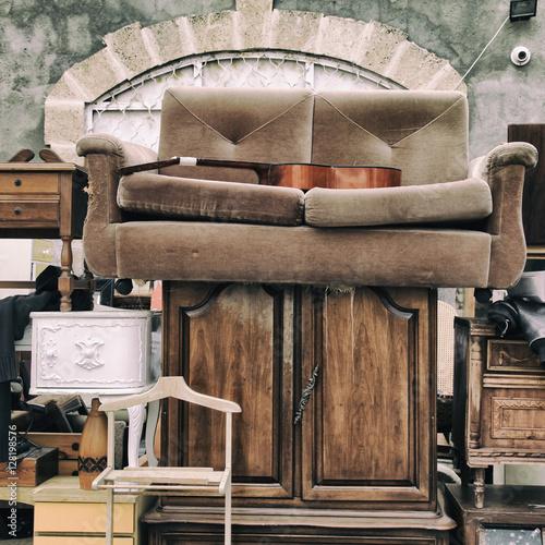Vintage furniture and other staff at jaffa flea market for Furniture u district