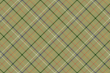 Checkered diagonal fabric texture seamless pattern