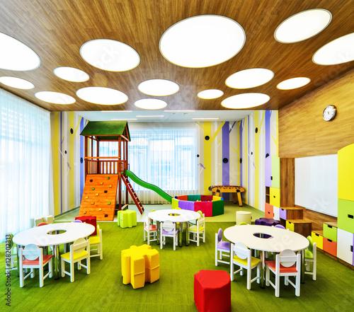 False Ceiling Design For Classroom ~ Quot kindergarten preschool classroom interior stock photo