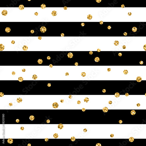 Quot Gold Polka Dot On Lines Seamless Pattern Background