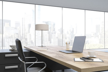 Close up of a CEO table