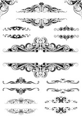 Set ornate frames.Collection of different ornate frame design with many leaves and spirals.