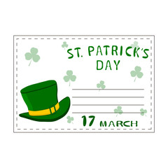 Abstract vector illustration of logo for Celebration Holiday St. Patrick's day