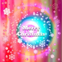 Abstract background snowflakes Merry Christmas