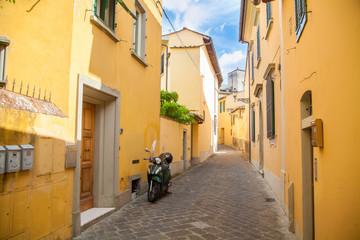 Italian street within the city.
