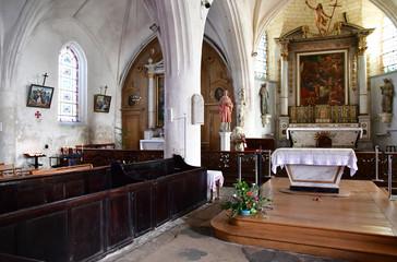 Ars en Re, France - september 26 2016 : picturesque Saint Etienn
