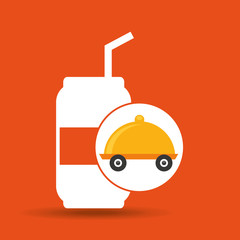 fast delivery soda drink vector illustration eps 10