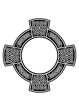 Celtic cross with framework