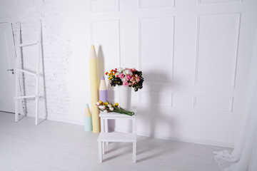 Bright interior with flowers