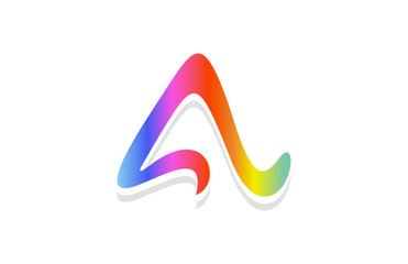 logo letter a rainbow colorful