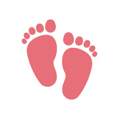 Foot print icon. Baby object child childhood infant theme. Isolated design. Vector illustration