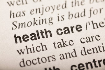health care - text in dictionary