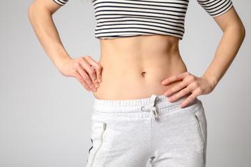 Slim waist woman's body. Healthy lifestyles concept.