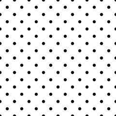 Small polka dot black seamless pattern vector