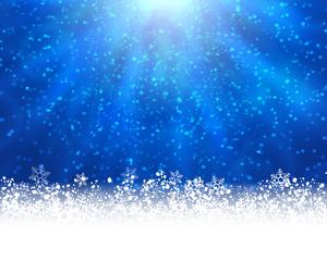 Blue winter backround