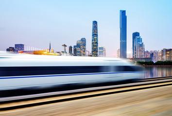 High-speed train through Guangzhou
