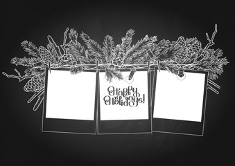 Graphic garland and photo paper