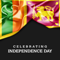 Celebrating SriLanka Independence Day. 3d illustration