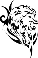 tribal-tiger for tattoo