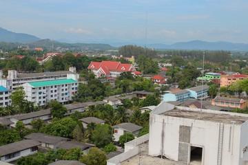 landscape Top view city Yala Thailand.
