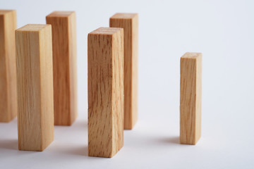 Wooden block for business concept.