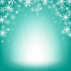 Winter background with snowflakes. Christmas background for montage your product.