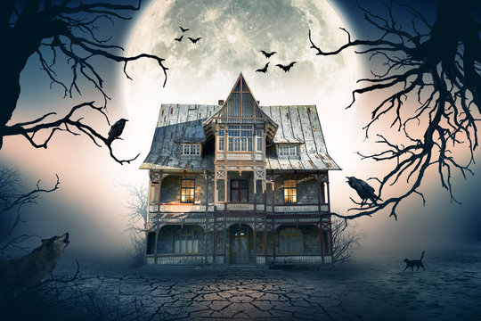 Haunted House. Creepy Atmosphere with Haunted House.