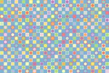 Geometric background of Squares and Circles.