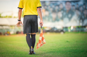 soccer or football assistant referee..