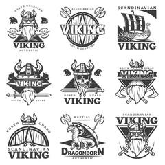 Vintage Viking Label Set
