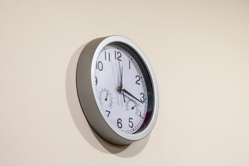 the wall multipurpose clock of bey color