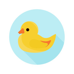Baby duck toy color icon. Flat design for web and mobile