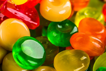 Assorted colorful candies. background of sweets