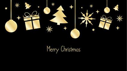 Christmas design gold