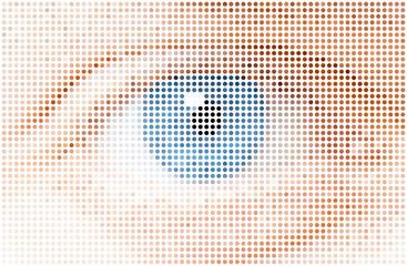 human dots eye, vector illustration